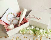 Pre Filled Bridesmaid gift box, Will you be my Bridesmaid, Bridesmaid thank you, Bridesmaid gift, Maid of honour, bridesmaid proposal