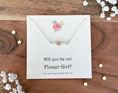 Bridesmaids Necklace, Bridesmaid Gifts, Wedding Party Gifts, Bridesmaid Box, Flowergirl, Pearl Necklace, Bridesmaid Proposal, Jewellery