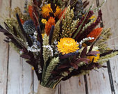 Dried Flower Bouquet. Autumn Country Woodland Wedding flowers bride bridal or bridesmaid