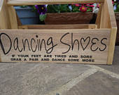 Flip flop crate. When your feet get tired. Wooden engraved. Wedding party