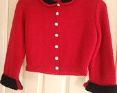 REDUCED Vintage Handknitted 1950s reproduction Evening Jacket