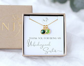 Unbiological Sister Gift, Two Birthstones, Best Friend Gift, Sister in Law Gift, Bridesmaid Gift, Soul Sister Jewelry, Birthday Gift For Her