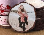 Wedding Favour Wood Slice Coaster personalised gifts unique gifts photo wooden coaster