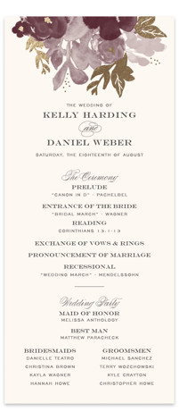 Ambrosia Foil-Pressed Wedding Programs