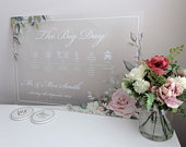 UK BASED PREMIUM Large Wedding Order Of The Day Sign Order Of Events Board Acrylic Perspex Wedding Timeline Forex