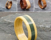 Lakeland slate ring with your choice of wood. Cumbria jewellery
