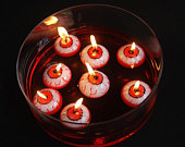 3 Eyeball Floating Halloween Candles, Halloween Party Decorations, Candle Decorations, Table Candles, Party Decorations, Halloween Decor