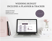 COMMERCIAL budget planner template, wedding planning tool, wedding planner budget spreadsheet, instant download and edit