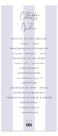 Summer Palm Wedding Programs