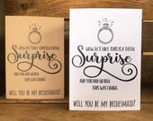 Funny bridesmaid proposal card wedding act like this is a total surprise will you be my bridesmaid? Maid of honour?
