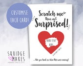Now Act Surprised Like You Had No Idea This Was Coming Scratch off Bridesmaid Request Proposal Card Funny Bridesmaid Card Scratchcard