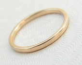 Skinny 9kt Yellow Gold Band, Thin Wedding Band, Stacking Ring or Knuckle Ring