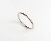 9ct White Gold Halo Ring Stacking, Simple, Delicate, Wedding Band