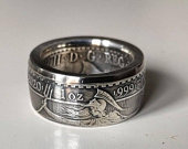 Coin Ring. Britannia 1oz .999 Silver Ring Mens ring. Wedding rings for men. Unique gift