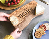 Personalized Rustic Wooden Chopping Cutting Cheese Board Personalized Anniversary Personalised Birthday Gift Personalized Wedding