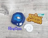 Animal Crossing Fossil Ring box Perfect Wedding Proposal Ring box Custom Colours New Horizons New Leaf Perfect Gift Personalized