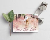 Elegant Romantic Handwritten Personalised Save The Date Postcards