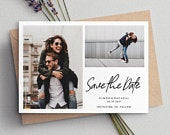Save The Date Cards, Photo Save The Dates, Simple Save The Dates, Save The Date Wedding, Save The Dates, Minimalist Save The Dates, 088