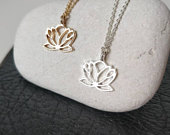 Lotus necklace, Silver lotus Flower, Gold lotus pendant, Flower necklace, Wedding jewelry, Mother necklace, Yoga necklace, Spiritual jewelry
