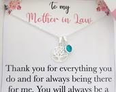 Mother in law necklace jewelry, future mother in law to be wedding birthday mothers day gift for mother in law, family tree of life necklace