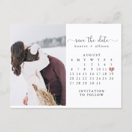 Post Card Calendar Save the Date