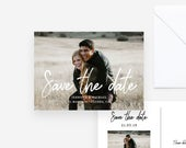 Photo Save the Date Template Postcard Save Our Date Printable Engagement Save the Date Card Custom Save the Date Photo Postcard PDF