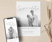 Photo Save the Date Digital Simple Save The Date Save the Date Electronic Invitation Postcard DoubleSided option Save the Date