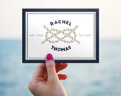 Modern Nautical Beach Destination Personalised Save The Date Postcards