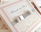 Satin and Sparkle with Lace Print Wedding Invitation Suites