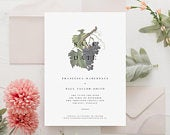 Botanical Wedding Save the Date, Vintage Save the Date, Floral Save the Date, Rose Save the Date, Italian Wedding Save the Date