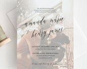 Photo Wedding Invitation Template, Add Your images, Fully Editable 025