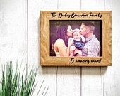 Personalized Photo Frame Picture Frame Personalized Picture Frame 5th Anniversary Gift Personalised Wedding Family Photo Frame