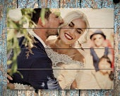 Pallet Sign Pallet Art Wedding Gift 5th Anniversary Gift Personalized Photo Pallet Wood Art Rustic Home Decor Picture Frame Picture on Wood