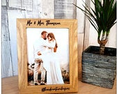 Personalized Photo Frame Picture Frame Personalized Picture Frame 5th Anniversary Gift Personalised Wedding Frame Family Photo Frame