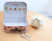 Sass Belle Shabby Chic Floral Vintage WEDDING SUITCASE CARDS Box Bunting
