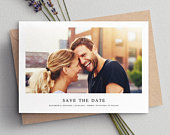 Photo Save The Date, Wedding Save The Dates, Simple Save The Date Cards Includes Envelopes, Add Personalised Photos Fully Customisable 088