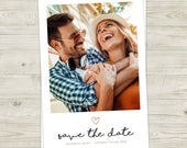 Photo Wedding Save the Date Cards Personalised Polaroid Style Digital PDF File