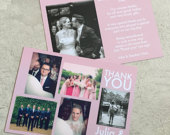 Photo Postcards Multiple Images Wedding Thank You Cards