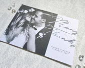Aimee Wedding Thank You Cards A6. Simple and Elegant Wedding Personalised Thank you with Photo. Envelopes included