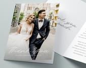 Wedding Thank You Cards with Photo, Folded Thank You Wedding Card, Thank You Card Wedding, Personalised Thank You Card, Thank You Cards 097