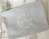 Personalised Make Up Bag, Cosmetic Purse, Personalised Gift, Bridesmaid Gift, Tote Bag, 100% Cotton