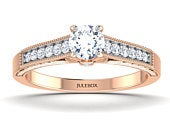Womens Engagement Ring, Ladies Rose Gold Solitaire 9kt Wedding Band, Fine Bridal Jewellery