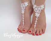 Barefoot sandals,Bridal Barefoot Sandals,Crochet barefoot sandals,Bridal Foot jewelry,Beach wedding barefoot sandals,Wedding barefootsandals