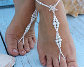 Bermuda Beach wedding barefoot sandals,Barefoot Sandals,Bridal foot jewelry,Starfish barefoot sandles,Footless sandals,Bridesmaid giftAnklet