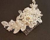 Bridal hair comb, bridal hair vine, bridal crown, wedding hair jewellery, crystal pearl hair comb, Bridal headpiece, wedding hair piece