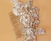Bridal hair comb, bridal hairpiece bridal wedding hair jewellery, Bridal crystal pearl hair comb, Bridal headpiece, wedding hair piece