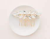 AVERY // Gold wedding hair comb, wedding hair accessories, bridal hair comb, hair accessory,crystal hair comb, hair accessories for brides