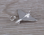 Air Force Vulcan Bomber Plane Charm in Sterling Silver