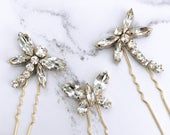 Bridal Hair pins Insect hairpins crystal dragonfly butterfly Swarovski Crystal hairpins headdress wedding accessories