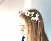 Silk flower crown, Blossom Crown, Bridal Accessories Wedding Accessories handmade for brides and bridesmaids for summer or woodland weddings